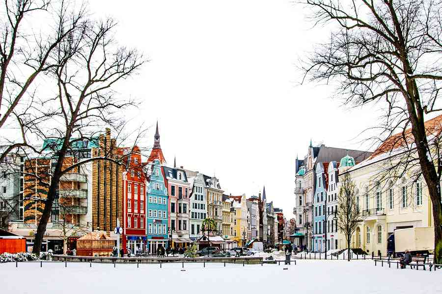 Rostock im Winter